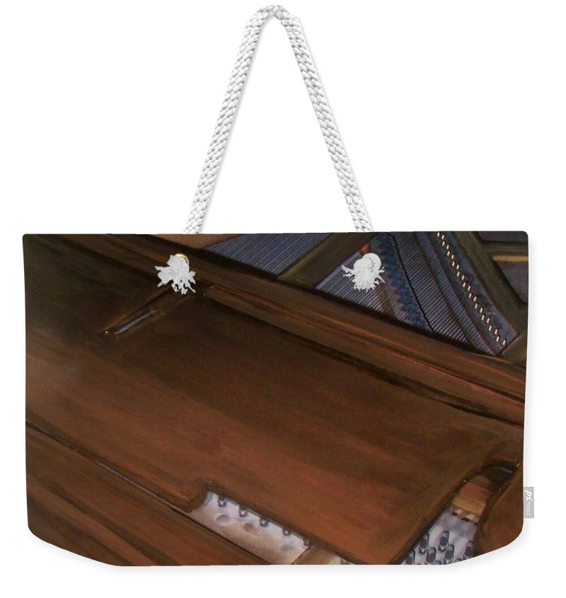 Piano Weekender Tote Bag featuring the mixed media Anita's Piano 2 by Anita Burgermeister