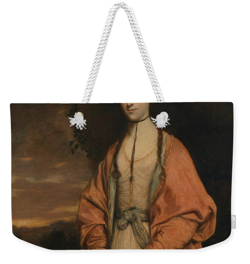 18th Century Art Weekender Tote Bag featuring the painting Anne Seymour Damer by Joshua Reynolds