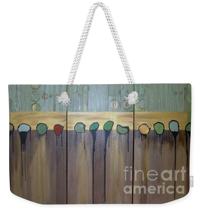 Abstract Weekender Tote Bag featuring the painting Annie by Marlene Burns