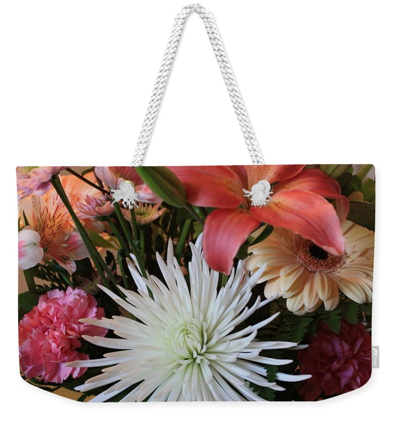 Bouquet Weekender Tote Bag featuring the photograph Anniversary Card by Carol Groenen