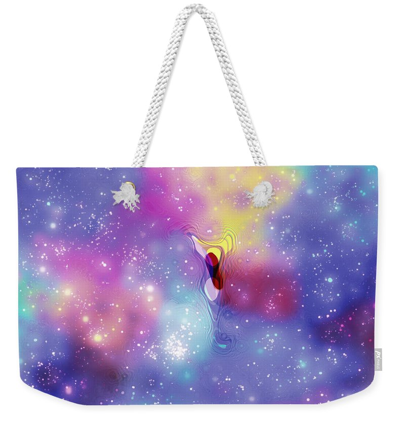 Anomaly Weekender Tote Bag featuring the digital art Anomaly In Space by Carlos Vieira
