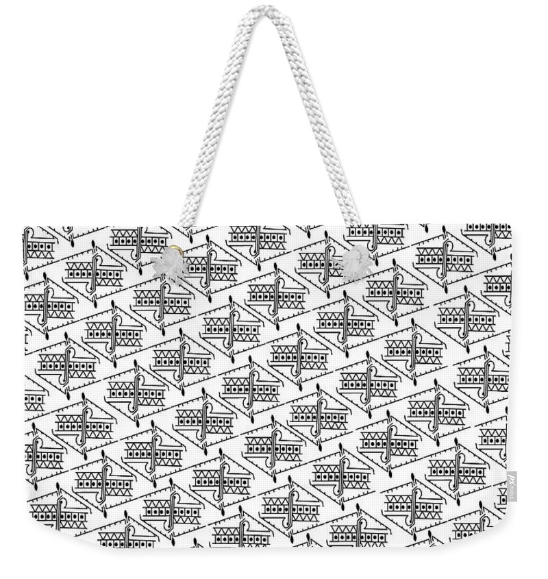 Anonymous Me Printable On Even Fabric Weekender Tote Bag featuring the digital art Anonymous Me Printable by Kasule Joseph