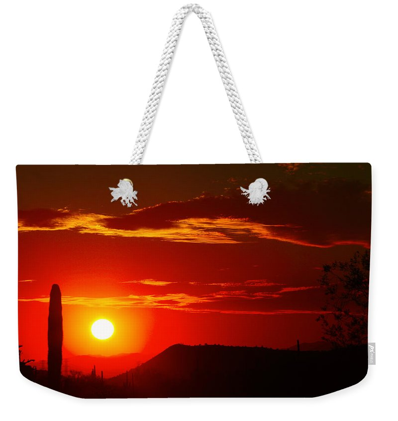 Sunset Weekender Tote Bag featuring the photograph Another Beautiful Arizona Sunset by James BO Insogna