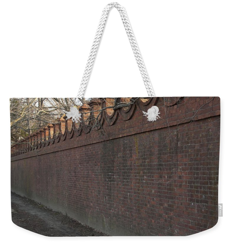 Wall Weekender Tote Bag featuring the photograph Another Brick In The Wall by Steven Natanson