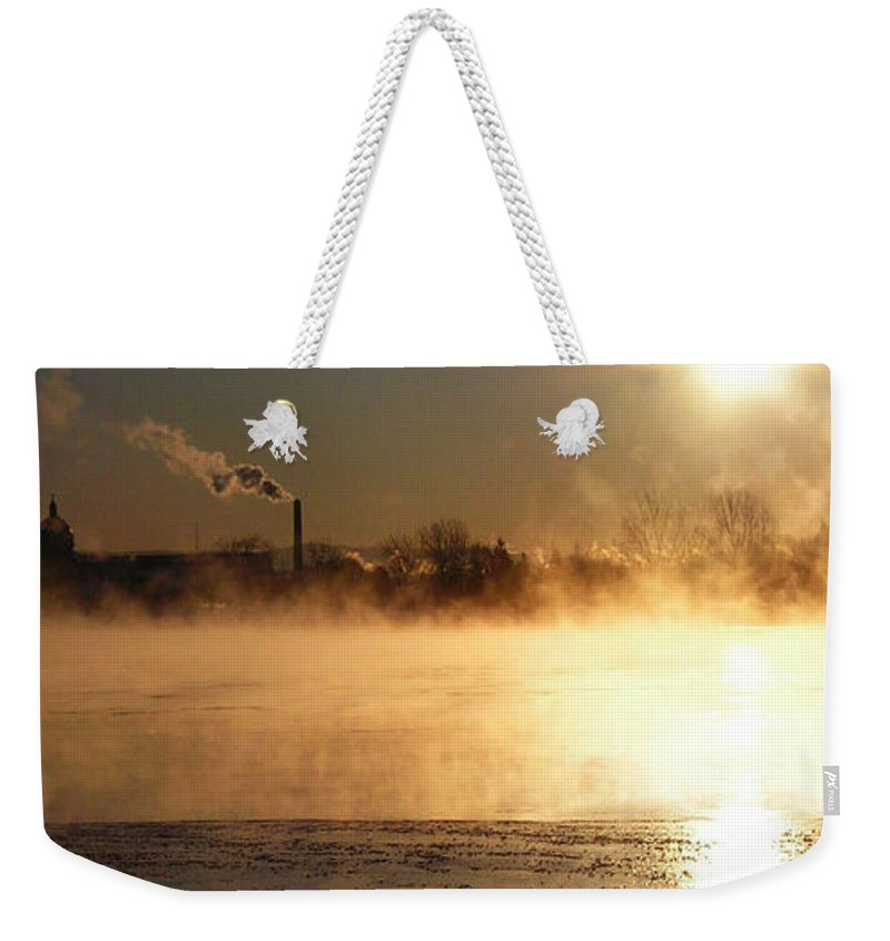 North America Weekender Tote Bag featuring the photograph Another Cold Day by Juergen Weiss