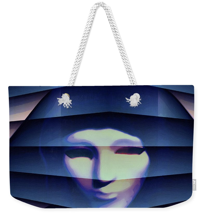 Weekender Tote Bag featuring the painting Another Face In The Crowd by Barry King