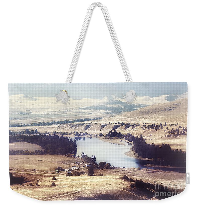 Hdr Weekender Tote Bag featuring the photograph Another Flathead River Image by Janie Johnson