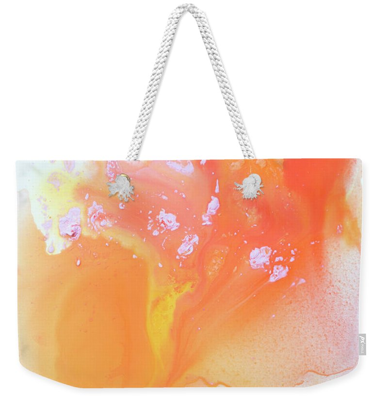 Abstract Weekender Tote Bag featuring the painting Another Love by Claire Desjardins