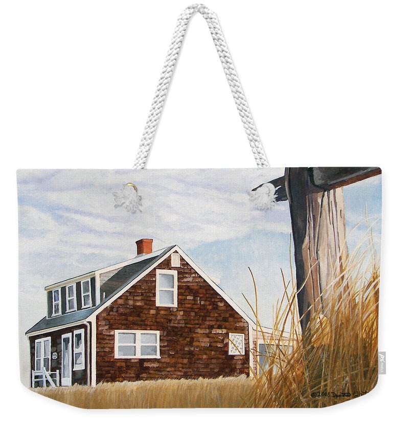 Landscape Weekender Tote Bag featuring the painting Another New England Sunrise by Dominic White