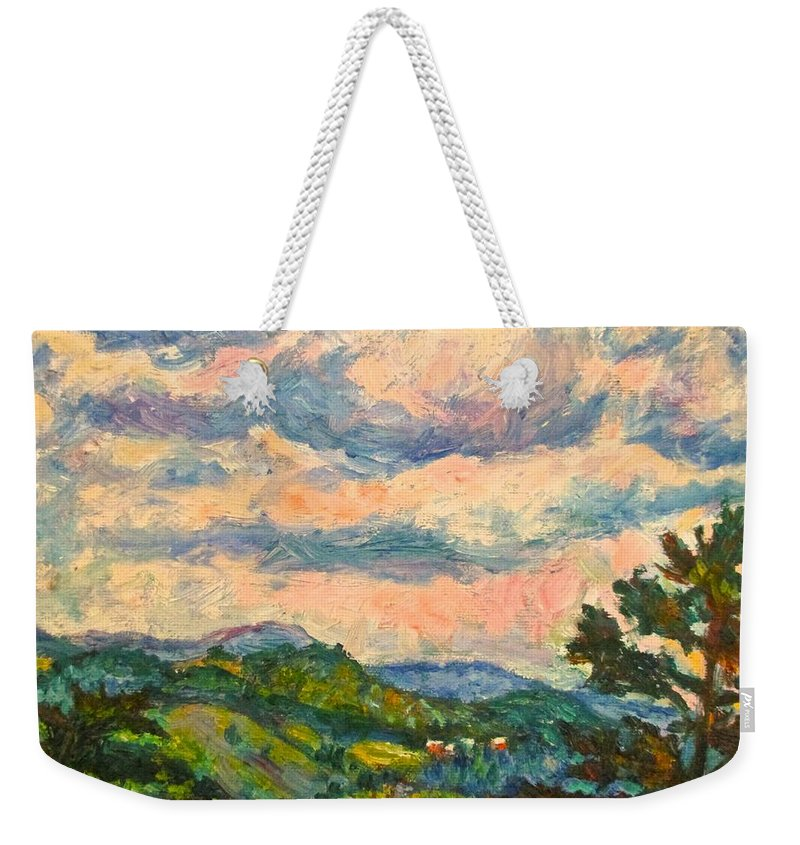 Landscape Paintings Weekender Tote Bag featuring the painting Another Rocky Knob by Kendall Kessler
