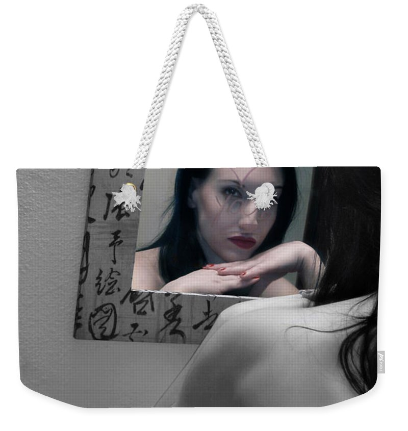Alluring Weekender Tote Bag featuring the photograph Another Version Of Me - Self Portrait by Jaeda DeWalt
