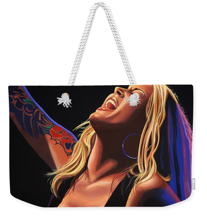 Anouk Weekender Tote Bag featuring the painting Anouk 2 by Paul Meijering
