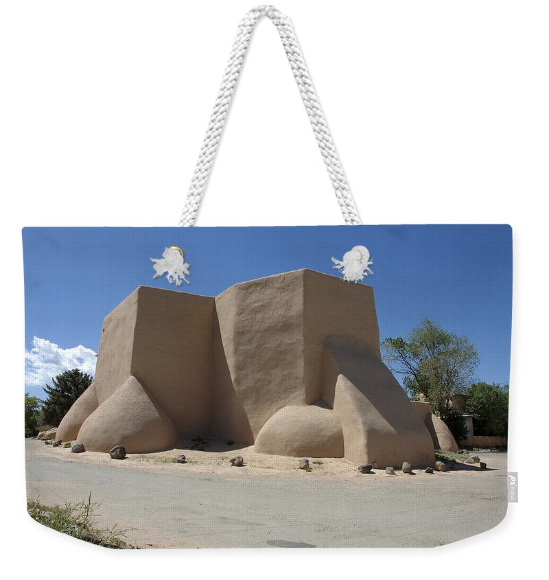Taos Weekender Tote Bag featuring the photograph Ansel's Church by Jerry McElroy