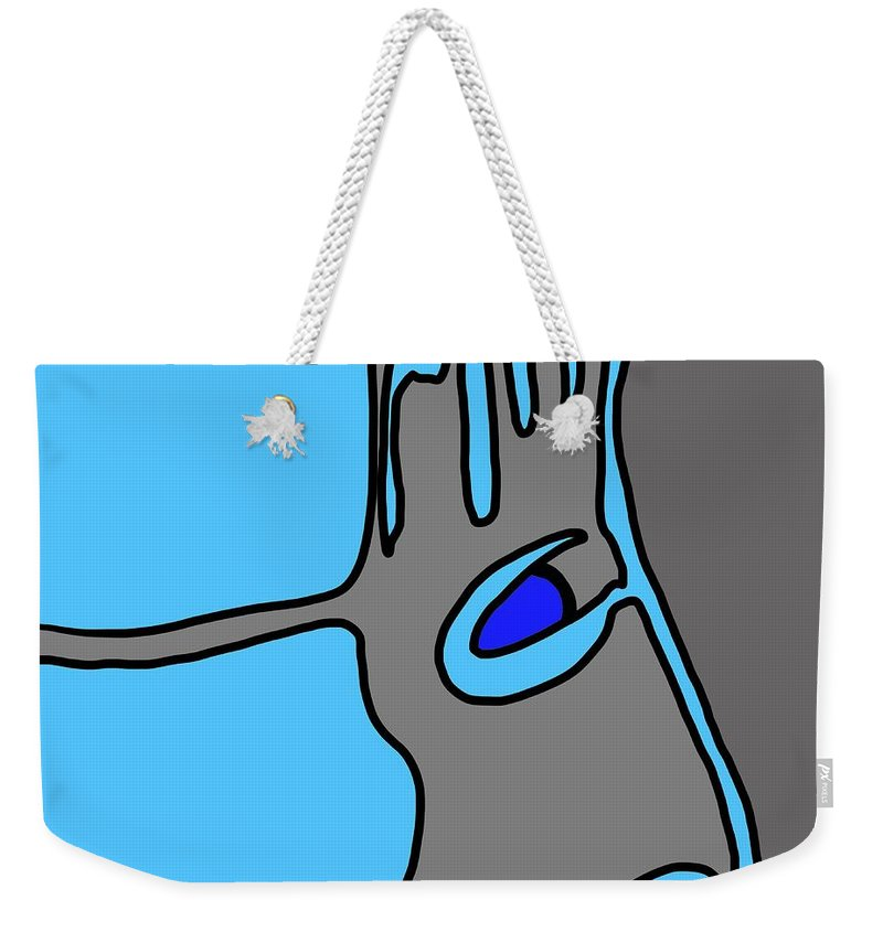 Face Weekender Tote Bag featuring the digital art Ant Farm by Jeff Quiros