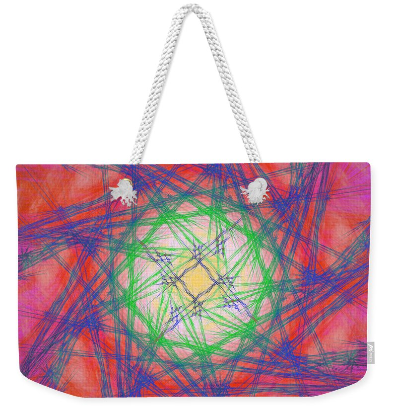Abstract Weekender Tote Bag featuring the digital art Antalistes by Andrew Kotlinski