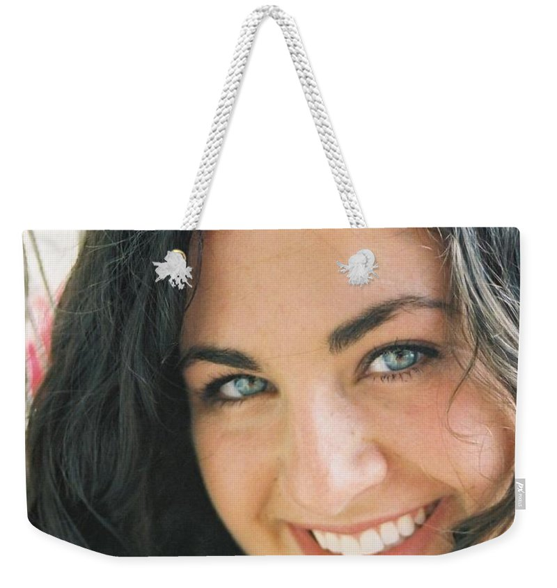 Girl Weekender Tote Bag featuring the photograph Anticipation by Nadine Rippelmeyer