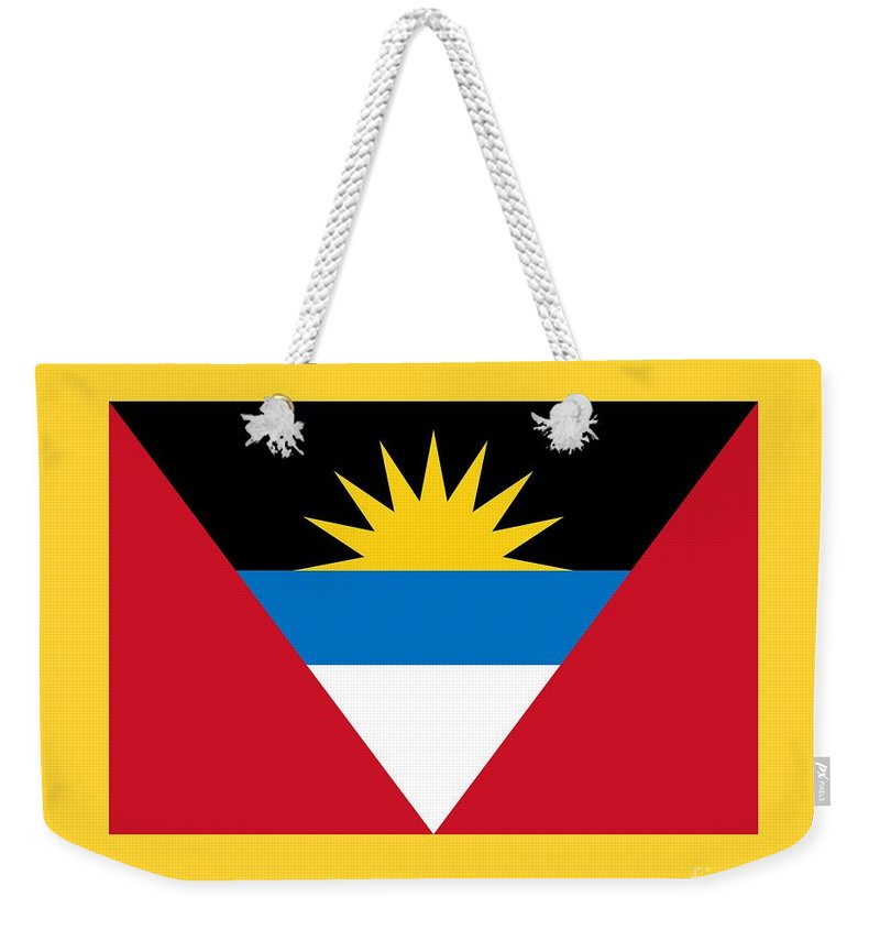 Flag Weekender Tote Bag featuring the digital art Antigua And Barbuda by Frederick Holiday