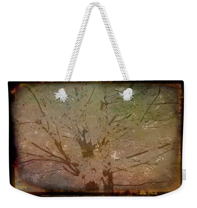 Autumn Weekender Tote Bag featuring the photograph Antique Amber Golden Tree by Aimee L Maher ALM GALLERY