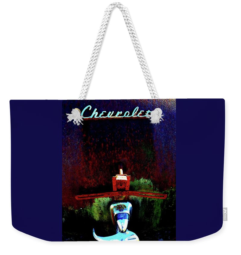 Antique Weekender Tote Bag featuring the photograph Antique Chevrolet 1 by Tamra Lockard