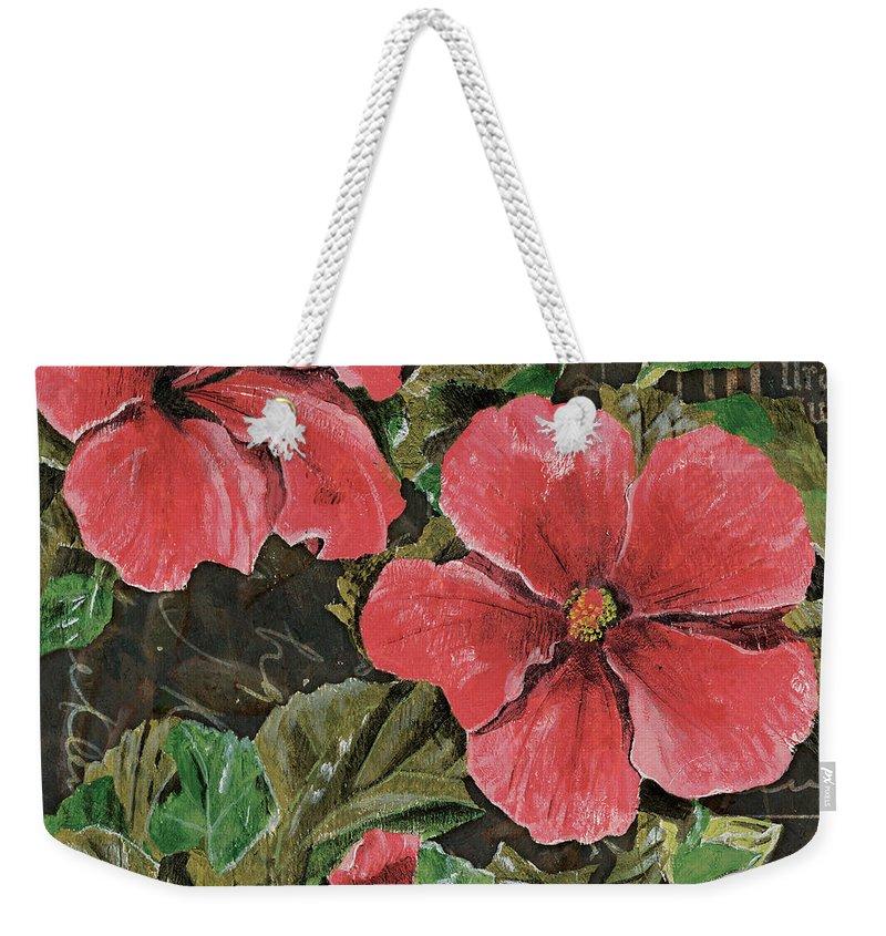Hibiscus Flower Paintings Weekender Tote Bags