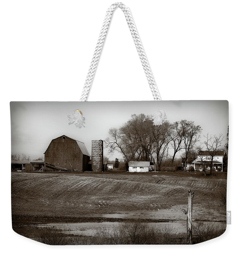 Barn Weekender Tote Bag featuring the photograph Antique Michigan Farm by Onyonet Photo Studios