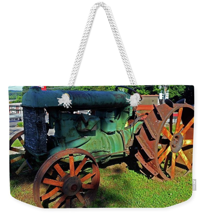 Hurricane Mills Weekender Tote Bag featuring the photograph Antique Tractor 3 by Ron Kandt