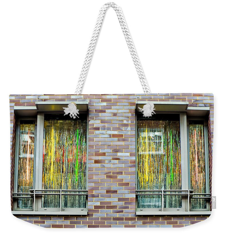 Apartment Weekender Tote Bag featuring the photograph Apartment Window by Tom Gowanlock