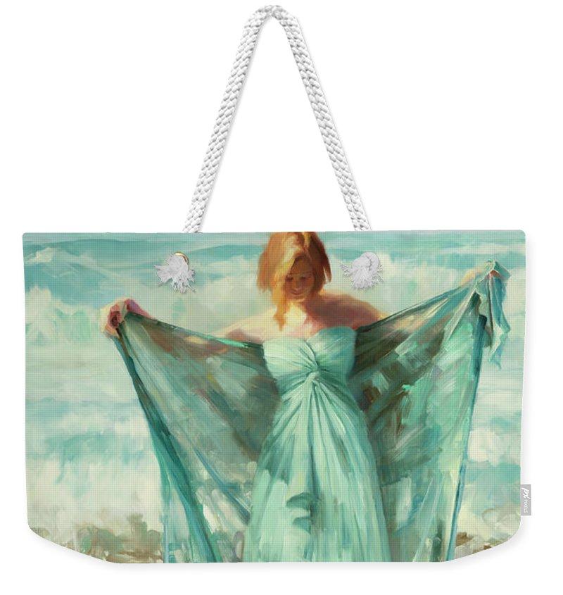 Ocean Weekender Tote Bag featuring the painting Aphrodite by Steve Henderson