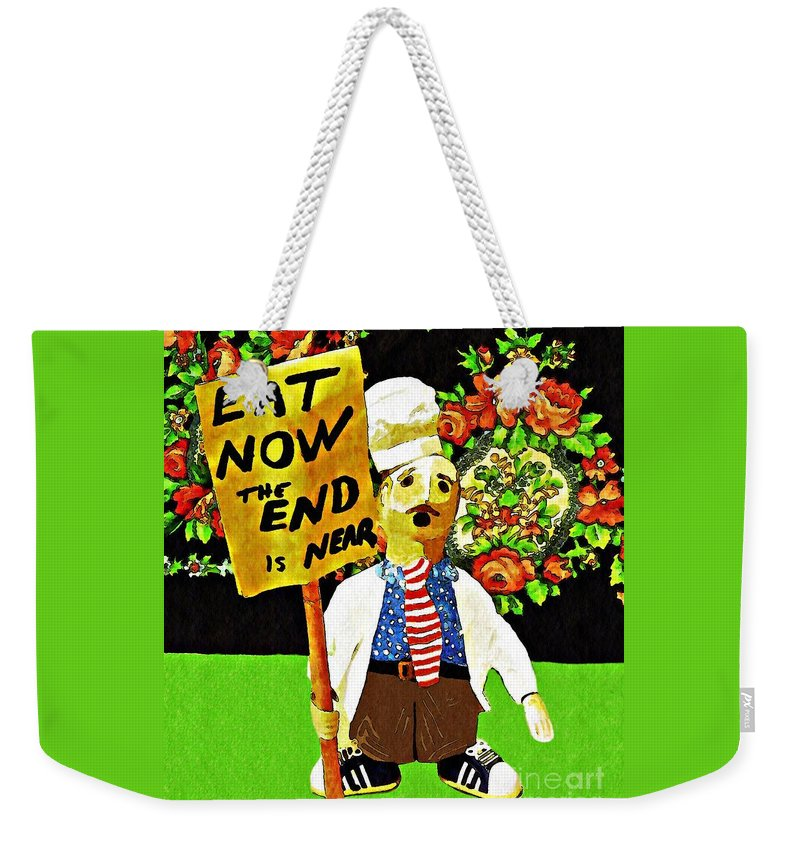 Chef Weekender Tote Bag featuring the photograph Apocalyptic Chef by Sarah Loft