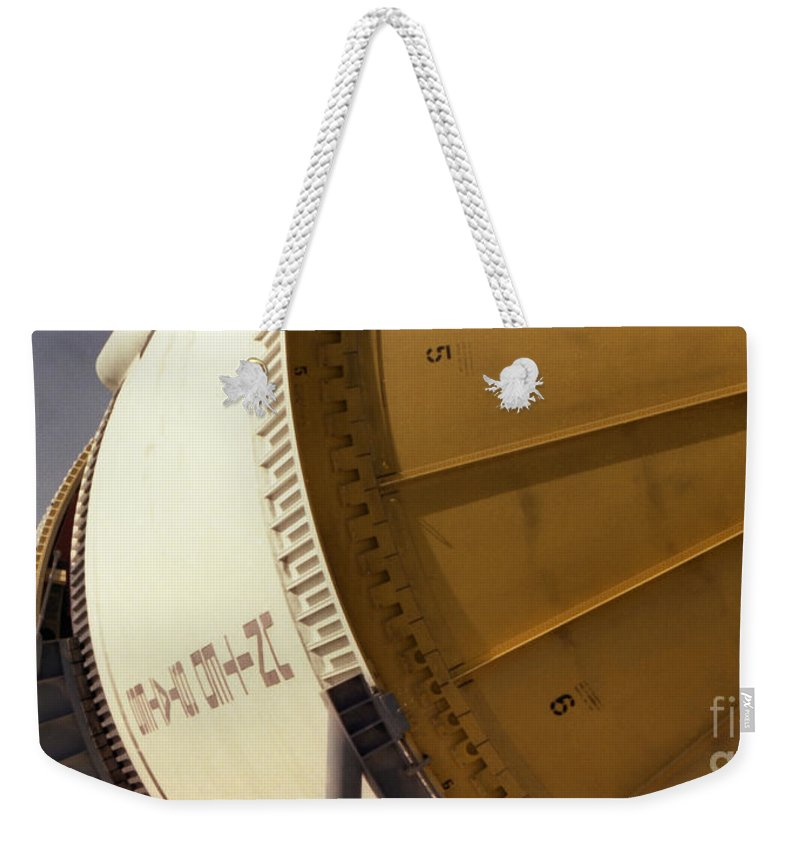 Technology Weekender Tote Bag featuring the photograph Apollo Rocket by Richard Rizzo