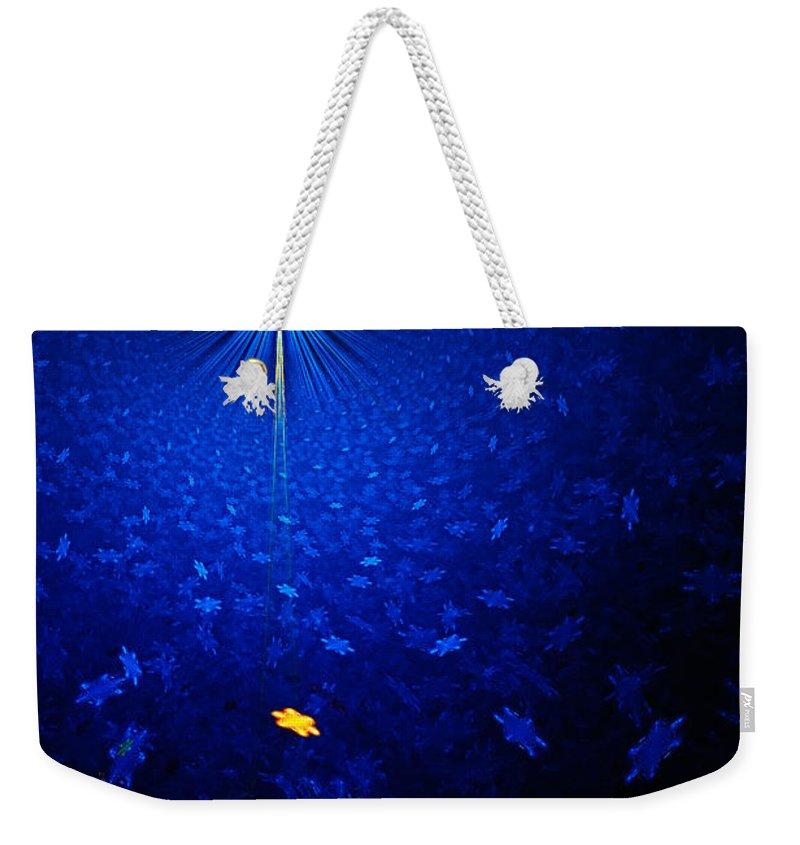 Fractal Abstract Weekender Tote Bag featuring the digital art Apophysis Star by Ann Garrett