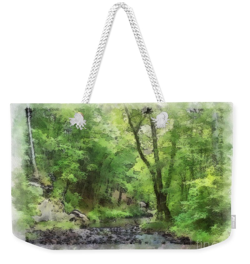 Wright Weekender Tote Bag featuring the photograph Appalachian Creek by Paulette B Wright