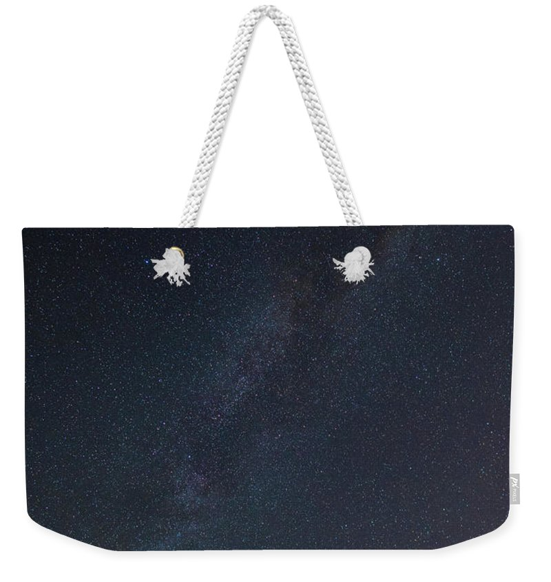 Appalachian Weekender Tote Bag featuring the photograph Appalachian Milky Way by Tyler Miller