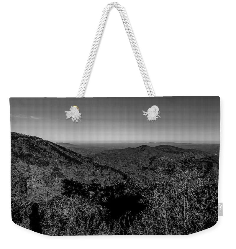 Appalachian Mountains Weekender Tote Bag featuring the photograph Appalachian Mountains From Mount Mitchell, The Highest Point In by Alex Grichenko