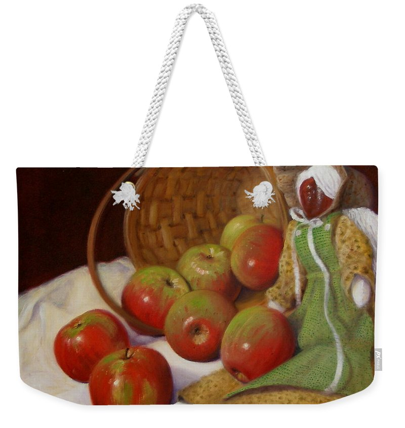 Realism Weekender Tote Bag featuring the painting Apple Annie by Donelli DiMaria