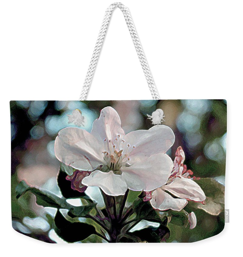 Flowers Weekender Tote Bag featuring the painting Apple Blossom Time by RC deWinter