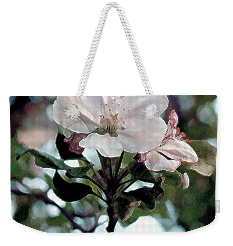 Blossom Weekender Tote Bag featuring the painting Apple Blossom Time by RC deWinter
