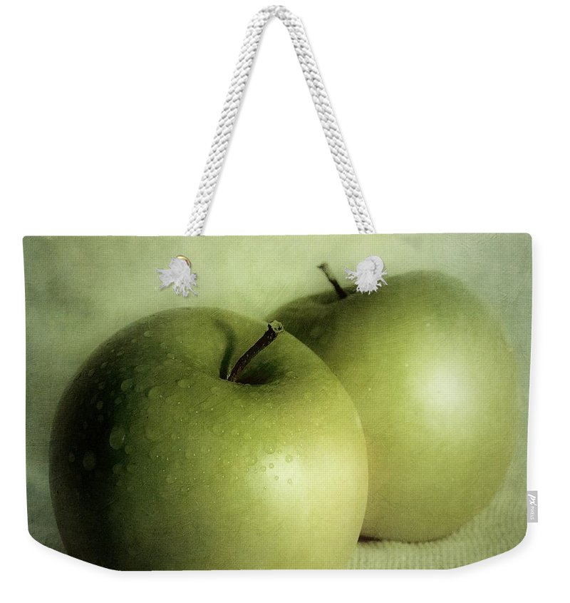 Apple Weekender Tote Bag featuring the photograph Apple Painting by Priska Wettstein