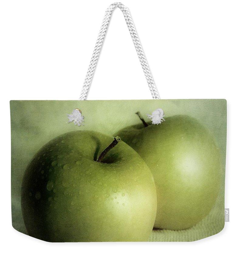 Apple Weekender Tote Bag featuring the photograph Apple Painting by Priska Wettstein