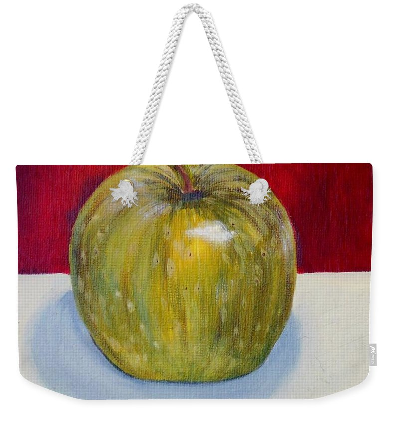 Art Weekender Tote Bag featuring the painting Apple Study by Angie Wright