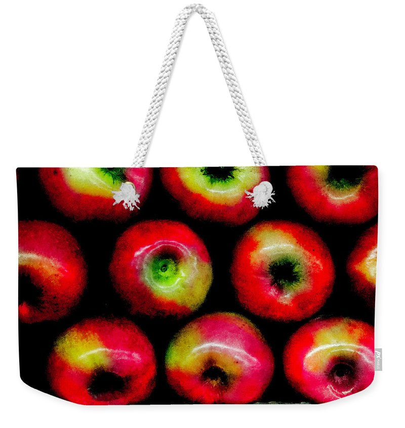 Apples Weekender Tote Bag featuring the photograph Apples by Madeline Ellis