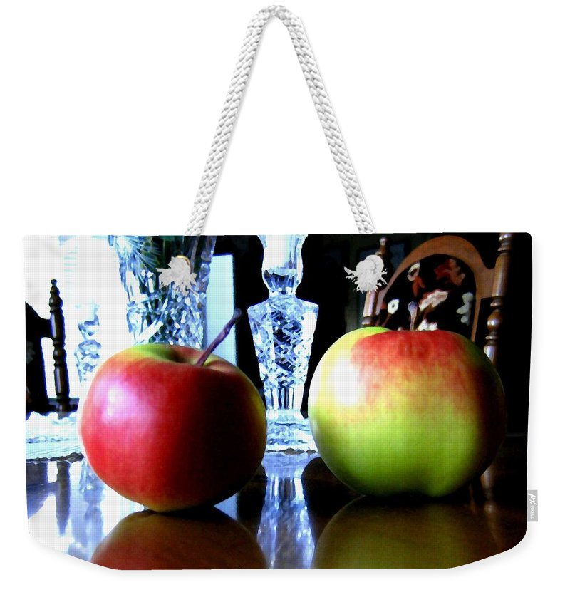 Apples Weekender Tote Bag featuring the photograph Apples Still Life by Will Borden
