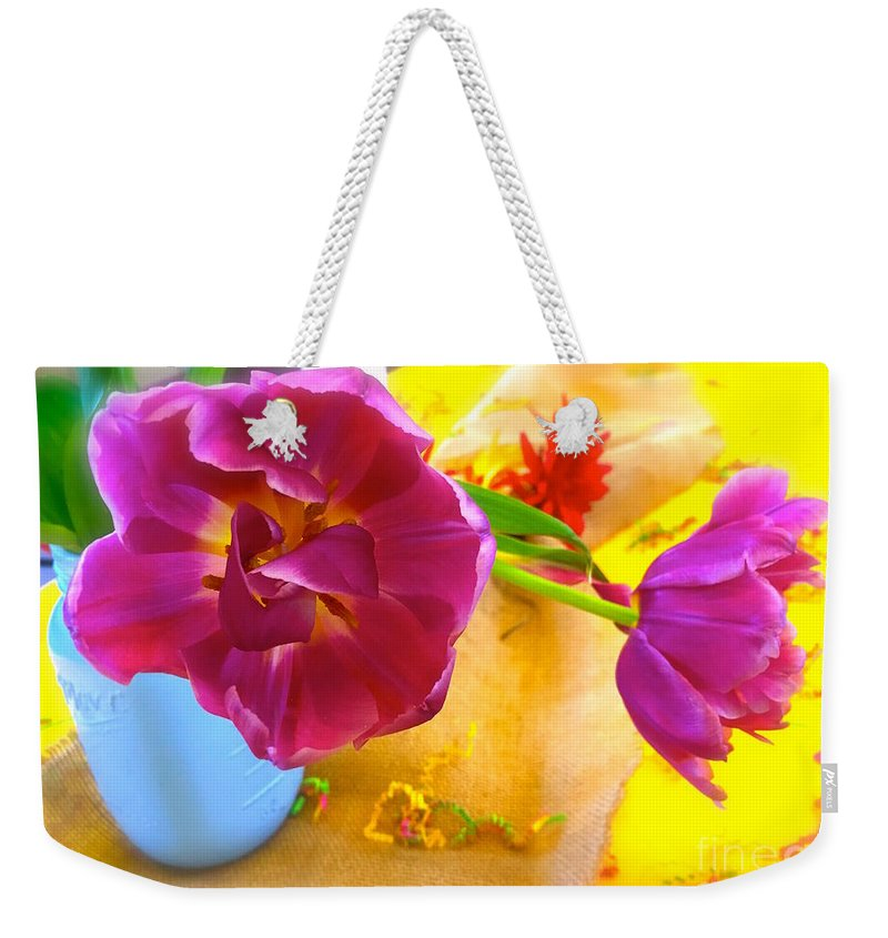 Still Life Weekender Tote Bag featuring the photograph Appreciation  by Wonju Hulse