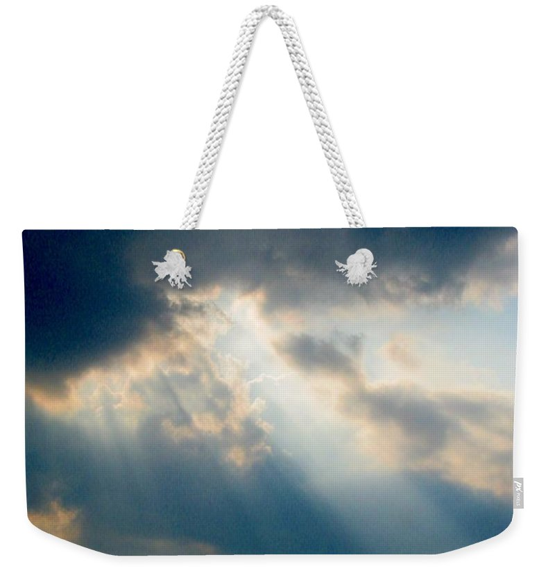 Sky Weekender Tote Bag featuring the photograph Approach by Mykel Davis