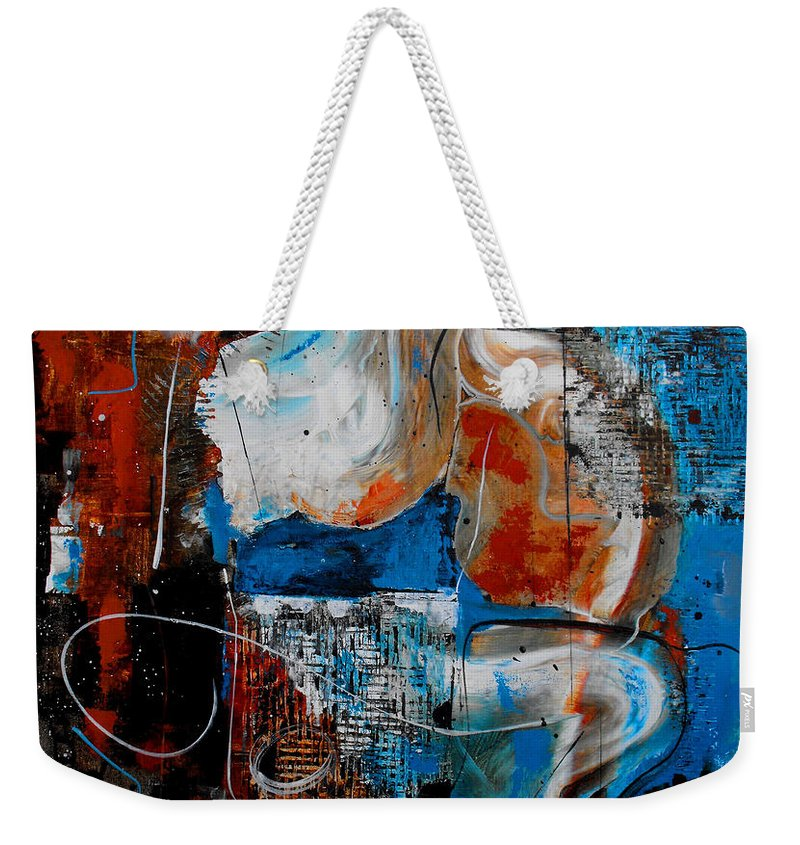 ruth Palmer Weekender Tote Bag featuring the painting Approach The Throne by Ruth Palmer