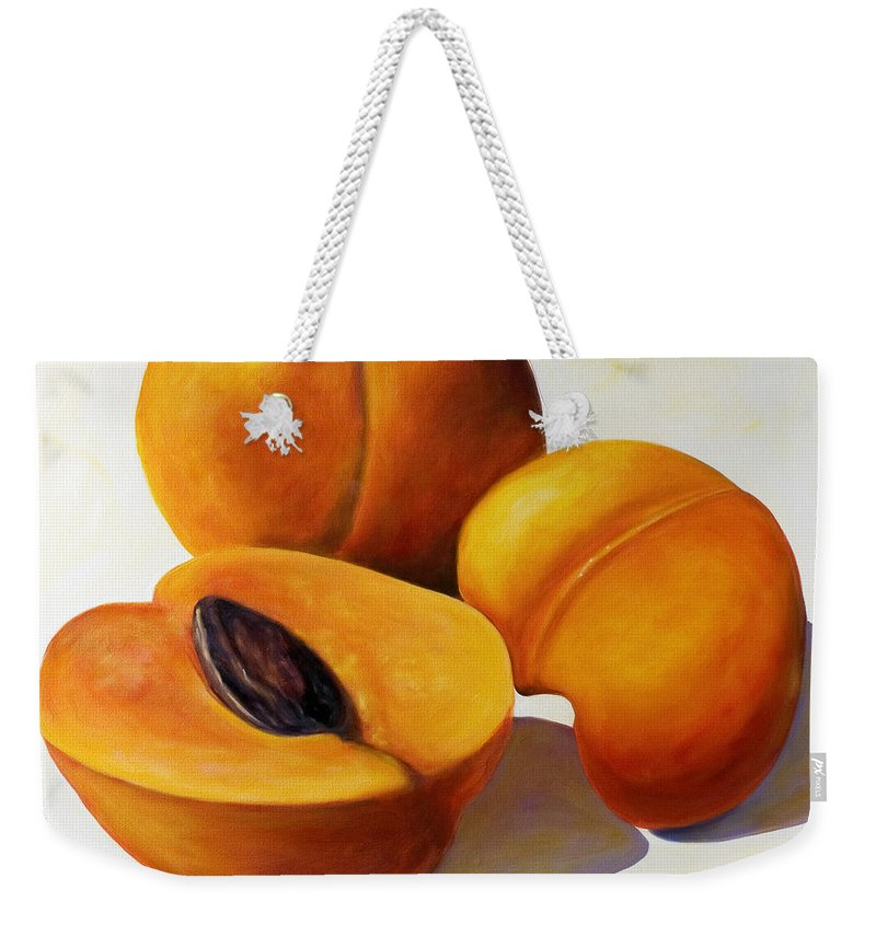 Apricots Weekender Tote Bag featuring the painting Apricots by Shannon Grissom