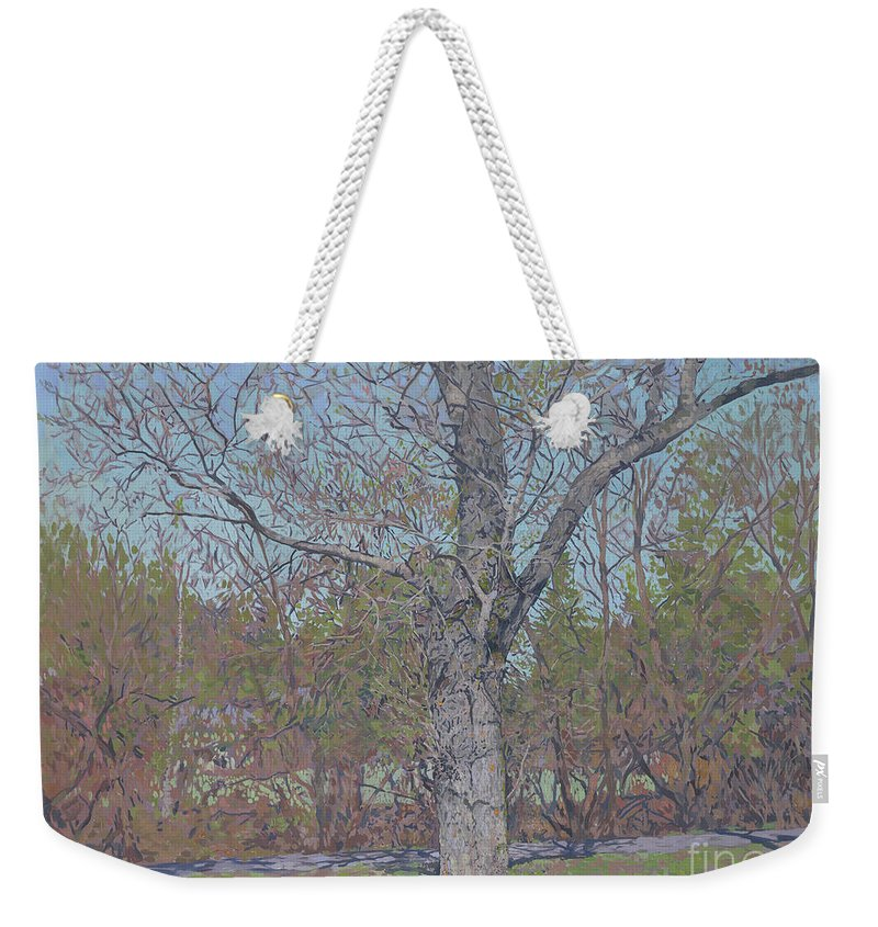 April Weekender Tote Bag featuring the painting April by Simon Kozhin