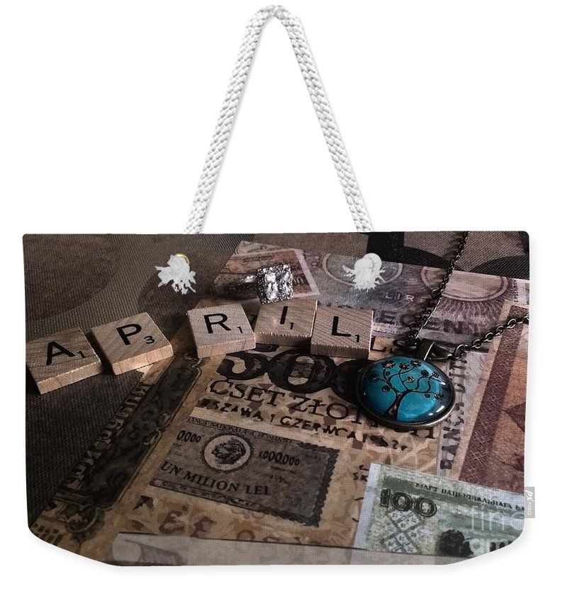 April Weekender Tote Bag featuring the photograph April by LKB Art and Photography
