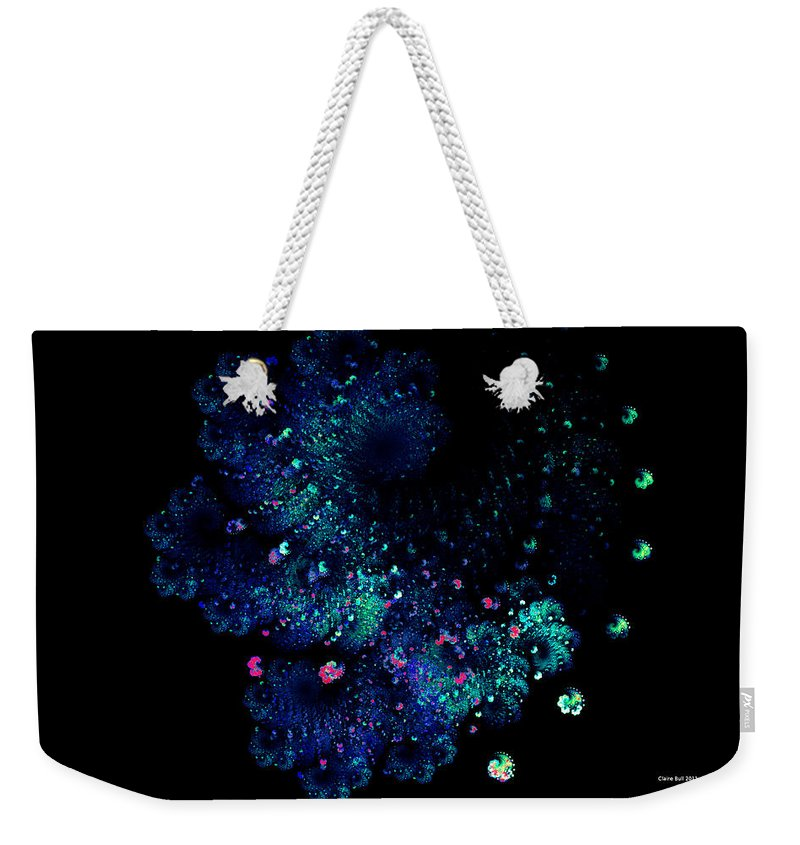 Fractal Weekender Tote Bag featuring the digital art April Showers May Flowers by Claire Bull