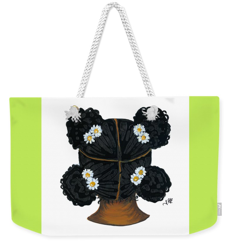 Naturally Me Kidz Weekender Tote Bag featuring the painting Daisy by Sonja Griffin Evans